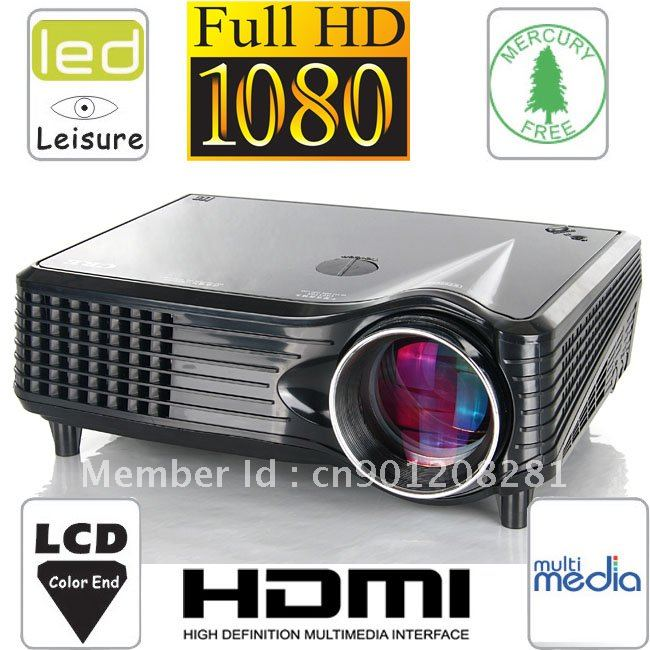 LED LCD Projector Best Choice For Home Use Home Theater Wide Image For Game Play DVD Movie Laptop School Meeting(China (Mainland))