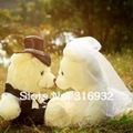 40cm bride and bridegroom wedding teddy bear,couple wedding gift/wedding accessories