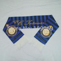 "Free shipping  Inter Milan scarf size 58""*6.63""   / football team dark bule fan scarves / fans souvenirs  dropshipping"