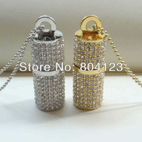 Crystal&Diamond cylindrical USB Flash Drive memory Stick fashion Gift 2GB/4GB/8GB/16GB/32GB/64G