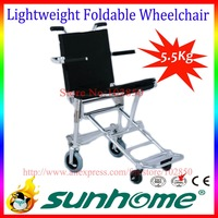 EMS free shipping,Aluminum alloy A7003 super lightweight folding wheelchair for both disables and old people,travelling use