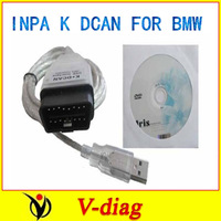 scanner cable for BMW INPA K+CAN 2014 newest ver SUPER QUALITY  with one year free warranty and free shippment