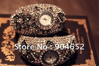 Newest women diamonds dress watchs with gift box Christmas gift free shipping