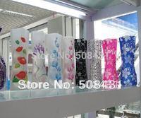 B 50 pcs/lot Free Shipping Wholesale New Arrival PVC Flower Vase Plastic Folding Vase Home Decoration Mixed Color