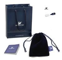 Free Shipping!Swarov0ski Necklaces Pendants Bracelets Bangles Gift Flannel Bag Certificate Book Paper Bag and Tag Set,5 Sets/Lot