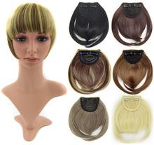 cabelo estrondo extensão estrondo clipe dianteiro em Bang Bang cabelo sintético cabelo franja cabelo 1pc(China (Mainland))