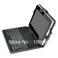 Free shipping!Tablet holder - Leather case with USB mini Keyboard for 10 inch Tablet PC