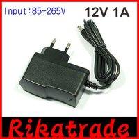 Promotion 100pcs/lot Power supply AC/DC US EU AU UK plug 5.5 x 2.1mm 12V 1A  Adapter