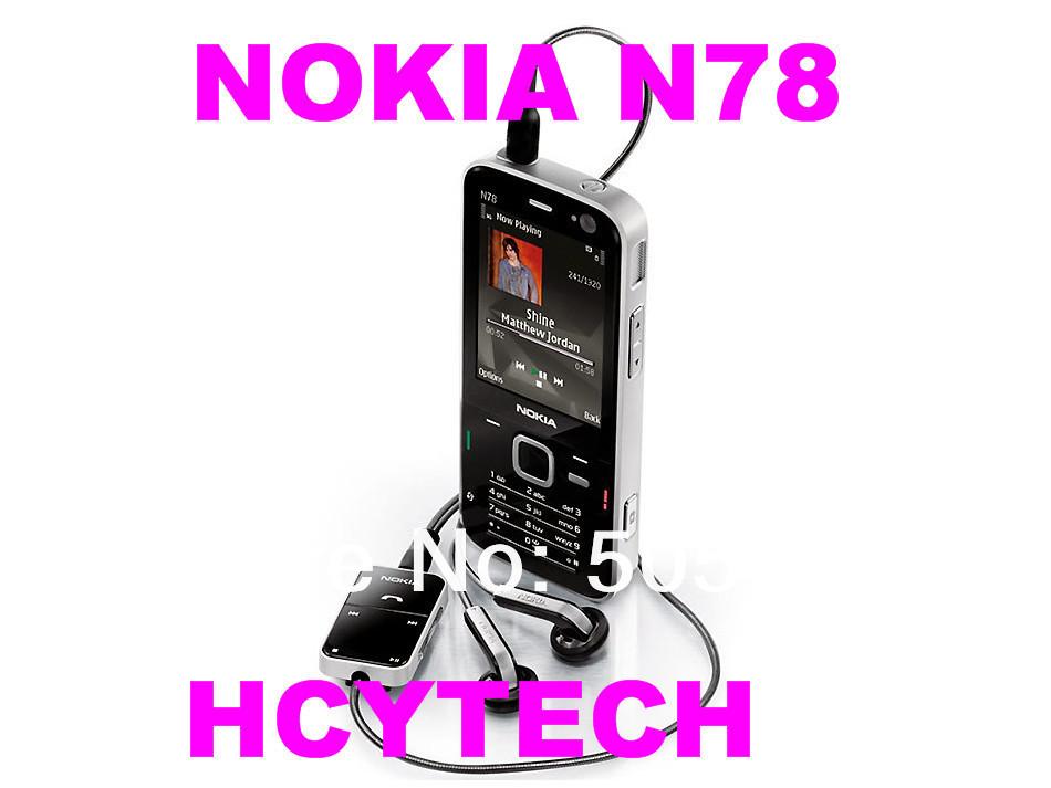 "3pcs/Lot Refurbished Original NOKIA N78 mobile phone,Unlocked Quad-band,2.4""Screen,GPS phone,FM,3.0mPix camera,Free shipping(China (Mainland))"