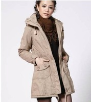 Free shipping hot sale the woman the Korean version increase size thick pure cotton five color cotton coat
