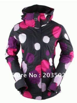 Free shipping 2012 womens snowboarding jackets best skiing clothing ski suit ride skating jacket for women lady anorak parka