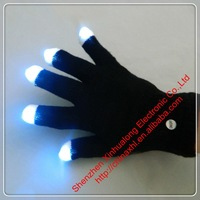 20 Pairs/Lot Black Led Flashing Gloves Christmas Gifts Free Shipping