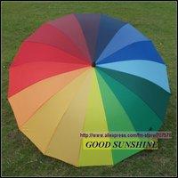 Low Freight Large Size Long umbrella Sun Umbrella Rainbow Hat Travel Fishing Umbrella Sun Shade SPorting Events Gardening