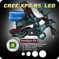 1PC RH-XP-G R5 LED Headlight 3 Mode White Light 600Lm CREE R5 LED Headlamp 1*18650 Waterproof Headlamp ZOOMABLE Headlight