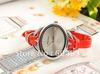 3 colors of the new fashionable casual women's jelly Leather Strap Watch