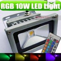 RGB 10W Led light Hi-Power FloodLight & Waterproof for Outside