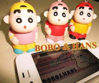 New Cute cartoon Shinchan doll squishy charm / mobile phone strap / Pendant / Wholesale