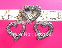 Wholesale 100pcs 8mm heart Slide Charms DIY Accessories  Fit Pet Collar Wristband