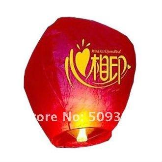 10 pcs/Lot, Free Shipping, Promotion Chinese Conventional Sky  Flying Lanterns, Festival Wishing Lanterns