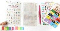 New JOOZOO deco sticker pack / 8 pcs / set  + PVC bag album /  paper + PVC / Decoration label  / Wholesale