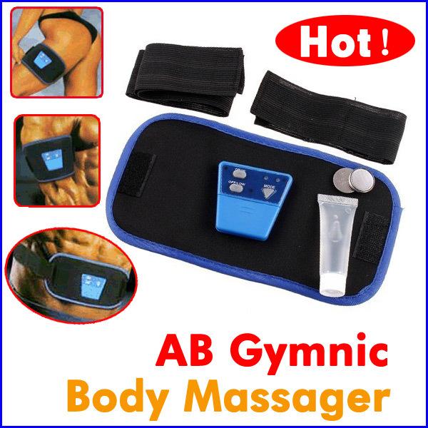 Dropshipping Health Care Slimming Body Massage belt AB Gymnic Electronic Muscle Arm leg Waist Massager Belt(China (Mainland))
