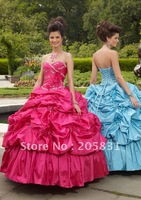 HOT!NEW! Sweetheart flower Quinceanera Dresses Ankle length A-line Stole Sequin Ball gown OQ88291