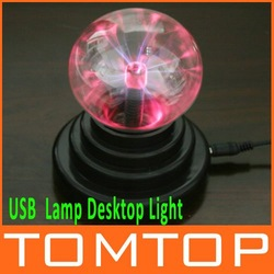 USB Plasma Ball Sphere Light Lamp Desktop Light Show Party Kid&#39;s Birthday Gift ,Free Shipping+Drop Shipping Wholesale(China (Mainland))