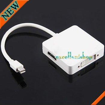 Mini Display Port Digi-Port to DP displayport HDMI (Audio) DVI 3 in 1 adapter Free shipping