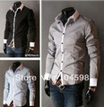 Free Shipping!2013 Mens tops Shirts Casual Slim Fit Stylish Dress Shirts,China size M-2XL