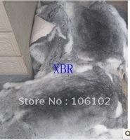 10pcs/lot free shipping!26cm*35cm-37cm rabbit skin rabbit fur rabbit leather cloth accessories  fur raw material