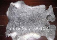 10pcs/lot free shipping!43-46cm*27-29cm raw rabbit skin rabbit fur rabbit leather cloth accessories raw rabbit fur raw material