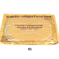 2pcs/lot Collagen Crystal Facial Mask 9 colors Collagen Face Mask A1