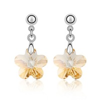 Crystal Flower Earrings/Crystal Jewelry/ Fashion Jewellery