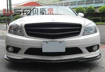 Carbon Fiber Sports  Style Front  Lip Design For  08-10 Mercedes Benz W204 Class Front Splitter (Fit Non C63 Model Only)