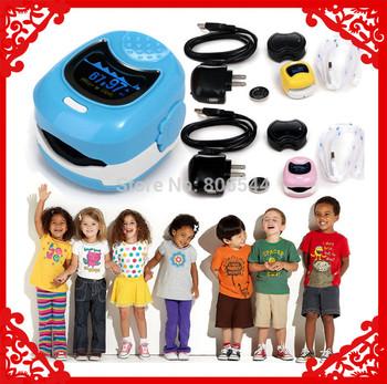 Color OLED Fingertip Pulse Oximeter for Children for Child - Spo2 Monitor Kids test