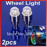2pcs Color Bike Cycling Motor Car Tire Tyre Valve Gaps Stem Wheel LED Light Lamp