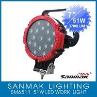A carton of 6pcs New model  51W,12v and 24V Truck LED Work light for ATV or Boat Light SM6511