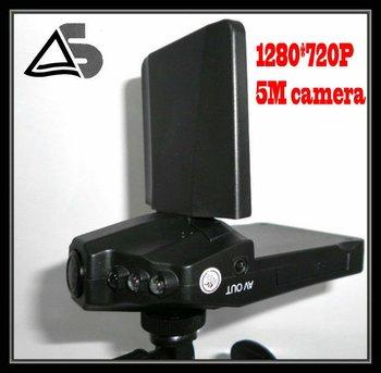 "free shipping 2.5""TFT Car video recoder,nightvision 270 degree 6 LED Motion Detection Car DVR/Car Camera H198 / car black box"