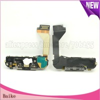 For iphone 4 i4 dock charger port  flex cable with wifi antenna home button flex Assembly Black 100% gurantee DHL Free shipping