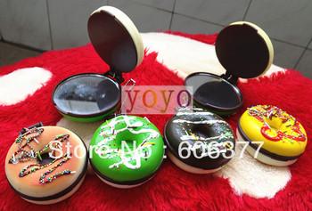 wholesale Kawaii squishy donut makeup mirror/ pocket mirror/makeup mirror  /cosmetic mirror,mirror bag/phone/key chain straps