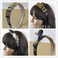 free shipping 3pieces/lot,2014 new fashion Feather hair band, wedding\party accessories,Fashion Headbands