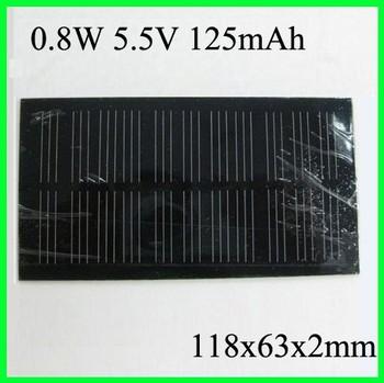 Wholesale!0.8W 5V Mini Mono Crystalline Solar Panel+Solar Cells+Module for Power System 50pcs/lot Free Shipping
