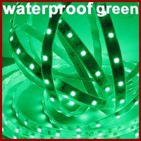 High Quality Waterproof Green LED Strip, 5m/Roll, 300LEDs/Roll, DC12V, Thinner, Lighter [Housing Lighting