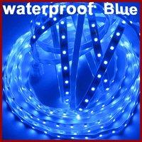 High Quality Waterproof Blue LED Strip, 5m/Roll, 300LEDs/Roll, DC12V, Thinner, Lighter [Housing Lighting
