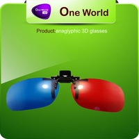 clip on 3d glasses plastic red cyan red  blue and Red-blue movies  Red /Blue Clip-on 3D Dimension Glasses