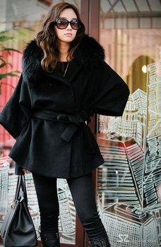 Free shipping New women's Korean edition collars bats woollen coat sleeve ladies's coat