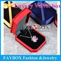 High quality ,7.5X10X3.2cm, 22pcs/lot romantic wedding Luxury velvet necklace box jewelry display gift box