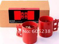 Free shipping Romantic Handle Ceramics Double Happiness Married Mug Ceramic mug