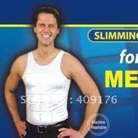 Hot sale+ Free Shipping + TV Slim N Lift for Men Magic Vest / Men Slimming Shaper T-Shirt  As Seen on TV