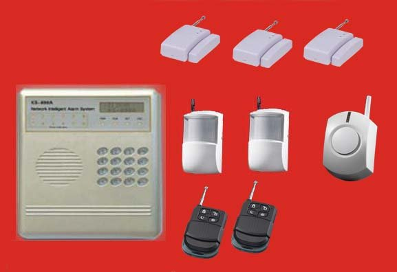 Complete Alarm Systems | With 5 wireless sensors and siren | 8 wireless, 4 wired zones home security | burglar & fire alarms(China (Mainland))